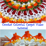 Crochet Colorful Carpet Video tutorial