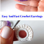 Easy And Fast Crochet Earrings