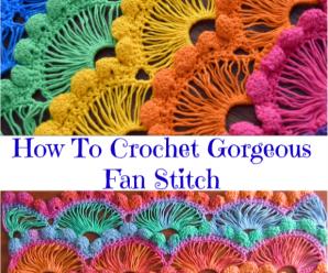 How To Crochet Gorgeous Fan Stitch