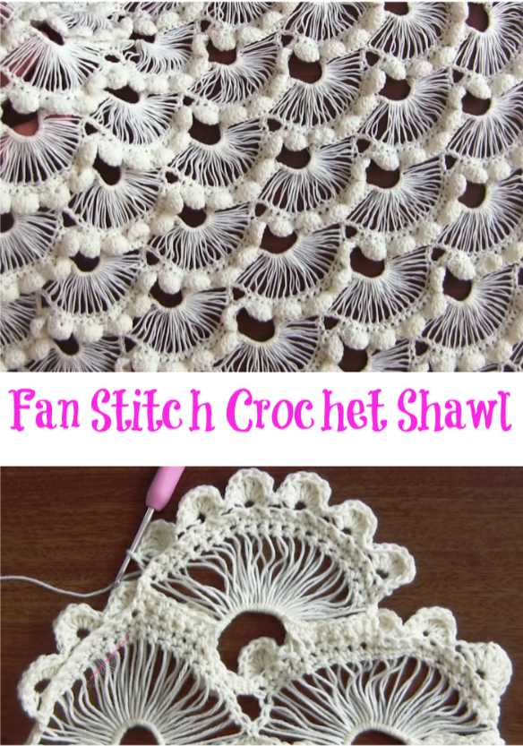 fan stitch shawl