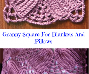 Granny Square For Blankets And Pillows