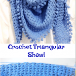 Crochet Triangular Shawl