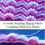 Crochet Amzing Zigzag Stitch Combined With Fan Stitch
