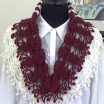 Crochet Scarf In Two Colors