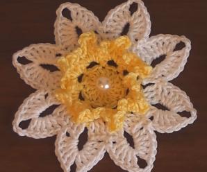 Crochet Beautiful Flower Video Tutorial