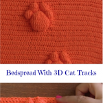 Bedspread With 3D Cat Tracks 🐾