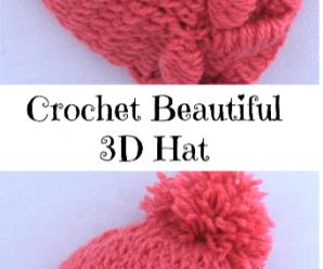 Crochet Beautiful 3 D Hat