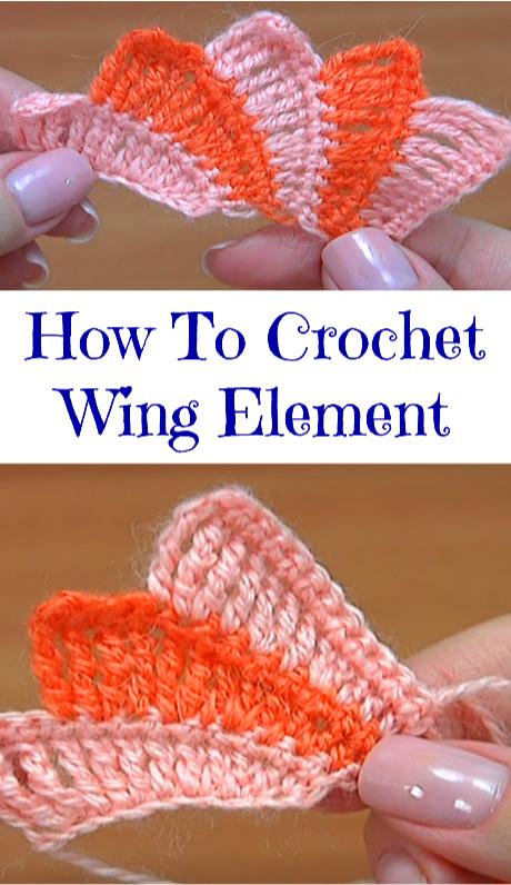 Crochet Wing Element