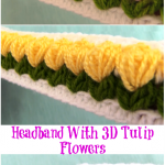 Headband With 3D Tulip Flowers