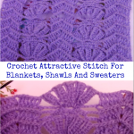 Crochet Attractive Stitch For Blankets, Shawls And Sweaters