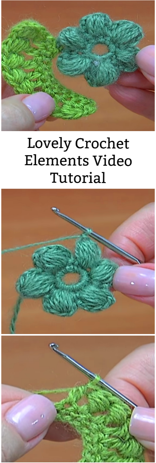 crochet lovely element