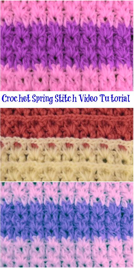 crochet spring stitch video tutorial