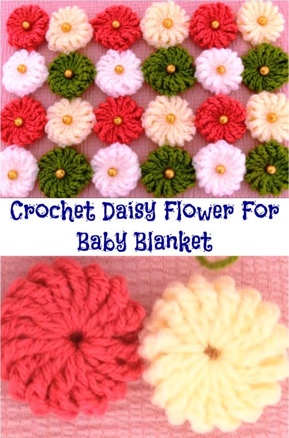 daisy flower for baby blanket