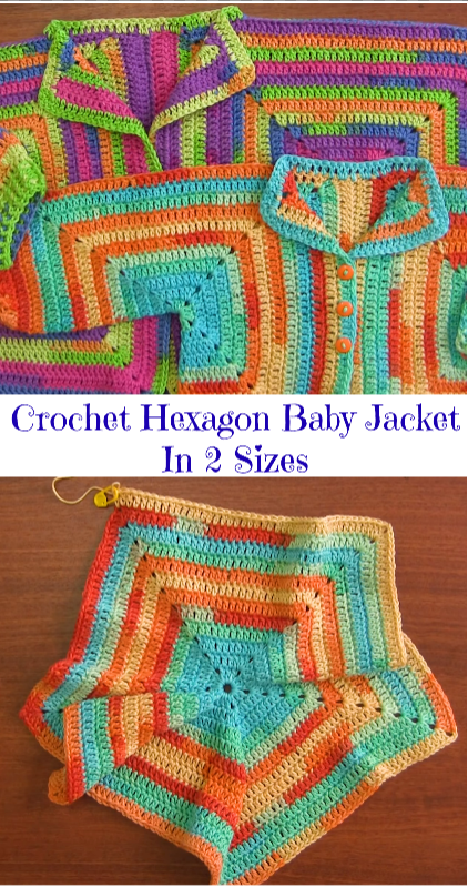 hexagon baby jacket