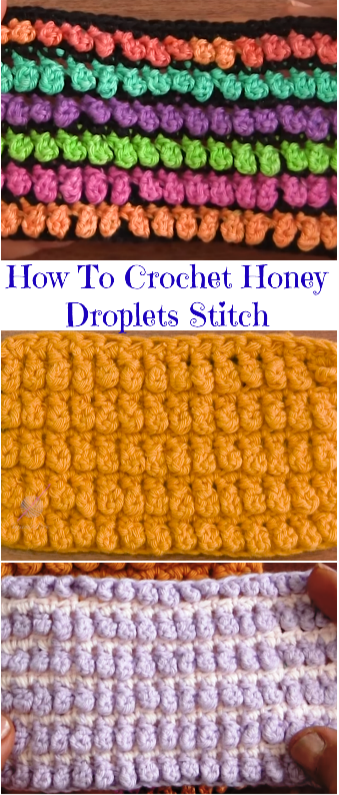 honey droplets stitch