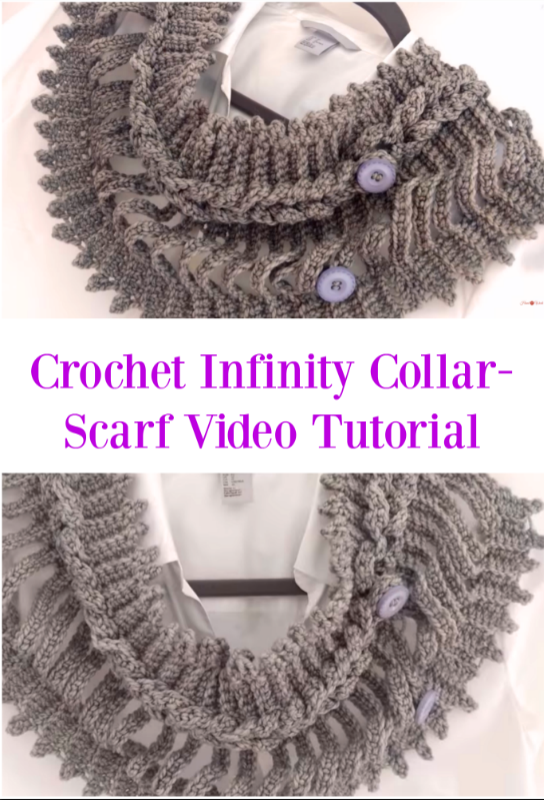 Crochet Infinity Collar Scarf Video Tutorial Crochet Ideas