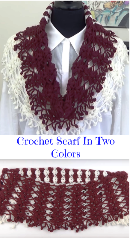 scarf in two colors