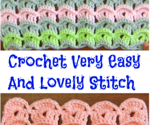Crochet Very Easy And Lovely Stitch