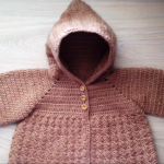 Crochet Hooded Baby Jacket