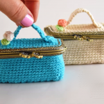 Crochet Mini Suitcase Bag
