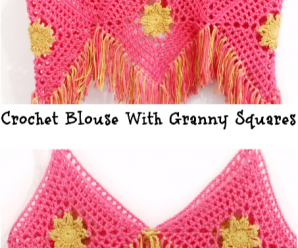 Crochet Blouse With Granny Squares