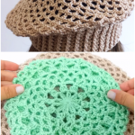Crochet Beret Hat In 3 Sizes