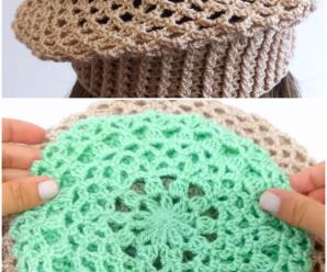 Crochet Beret Hat In 3 Sizes