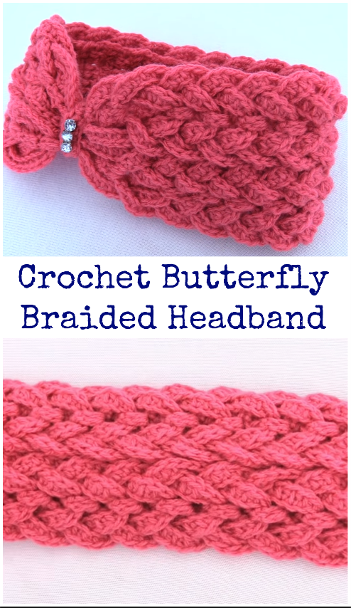 butterfly breided headband