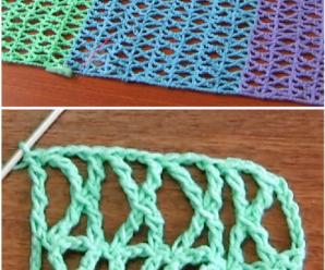 Crochet X And K Stitch Scarf