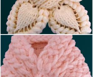 Crochet Butterfly Braid 3D Scarf