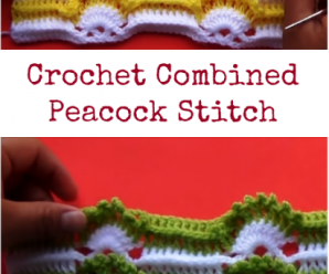 Crochet Combined Peacock Stitch