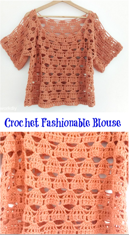 crochet fashionable blouse