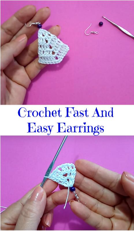 crochet fast and easy earrings