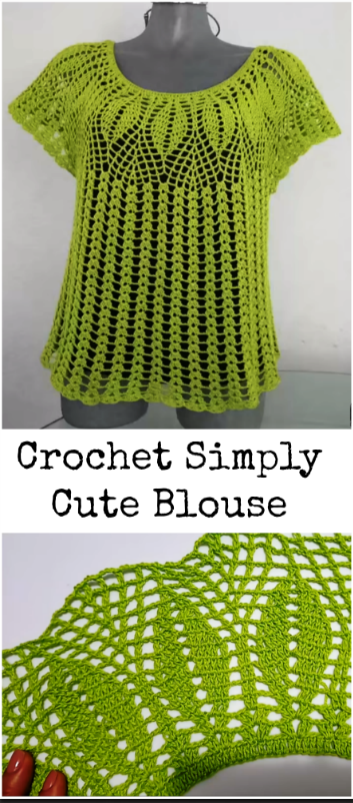 crochet simply cute blouse