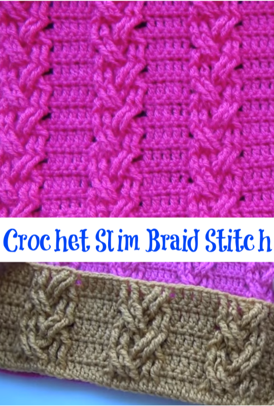 crochet slim braid stitch