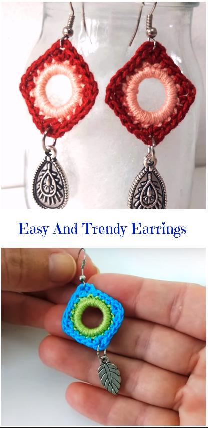 easy and trendy earrings