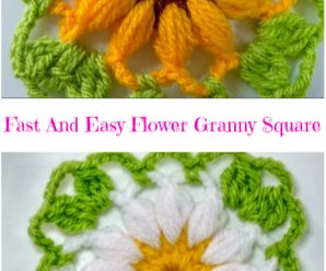 Fast And Easy Flower Granny Square