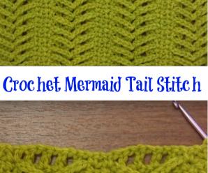 Crochet Mermaid Tail Stitch