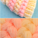 Crochet Puff Braids 3D Hat