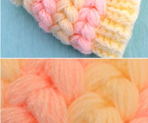 Crochet Puff Braids 3D Hat