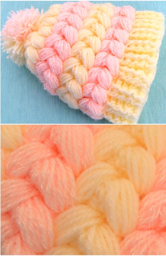 puff braids 3 d hat