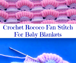 Crochet Rococo Fan Stitch For Baby Blankets