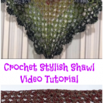 Crochet Stylish Shawl Video Tutorial