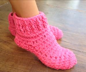 Ageless Crochet Slippers Video Tutorial