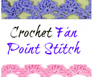 Crochet Fan Point Stitch