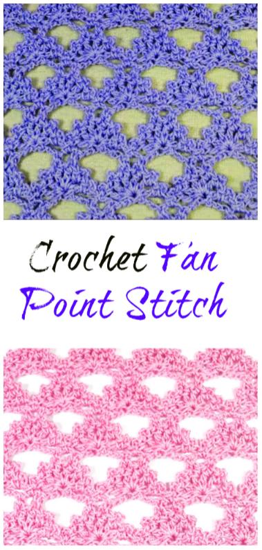 Crochet Fan Point Stitch