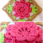 Gorgeous Flower Granny Square