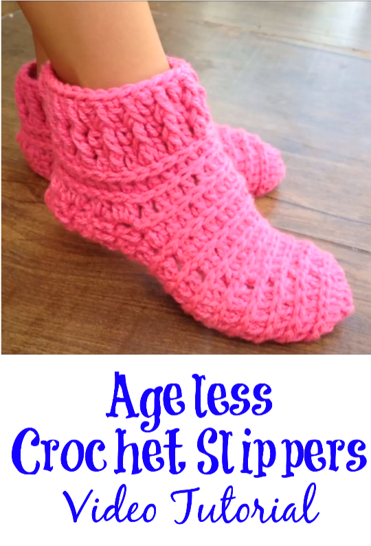 ageless crochet slippers