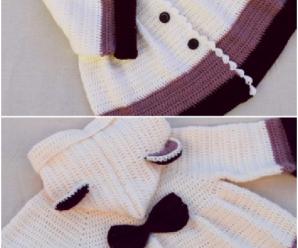Very Easy Girl's Crochet Coat