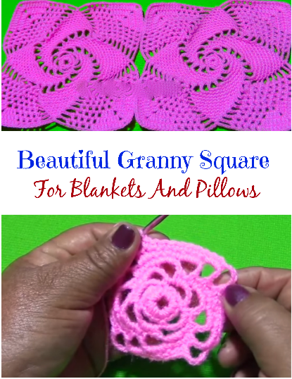beautiful granny square for blankets and pillows